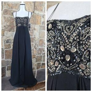 NWT Aidan Mattox 8 Sequin Strapless Gown Dress